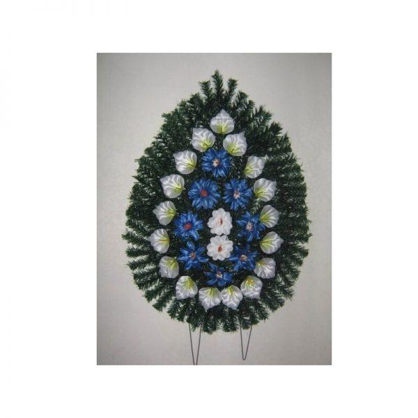 Coroana artificiala (alb, albastru) servicii funerare non stop bucuresti ilfov adysim