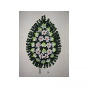 Coroana artificiala (alb, verde) servicii funerare non stop bucuresti ilfov adysim