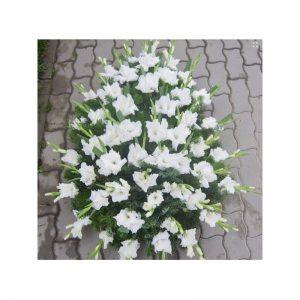 Coroana gladiole albe servicii funerare non stop bucuresti ilfov adysim