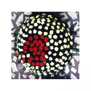 Coroana rotunda din garoafe servicii funerare non stop bucuresti ilfov adysim