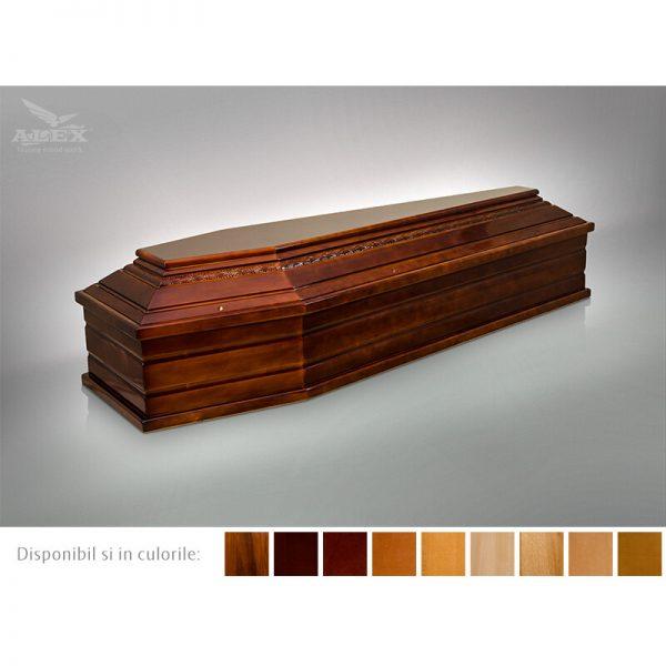 sicriu esenta brad culoare mahon sau nuc servicii funerare non stop bucuresti ilfov adysim